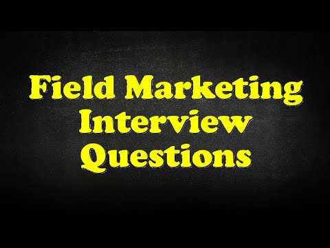 Field Marketing Interview Questions   YouTube