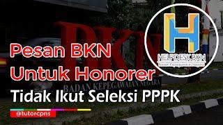 Kabar BKN Untuk Guru Honorer K2 Yang Tidak  Kut Tes P3K 2019