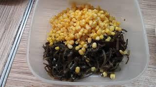 Как приготовить салат из морской капусты с яйцом и кукурузой
