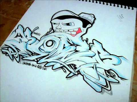 DROBER bocetos graffiti , YouTube