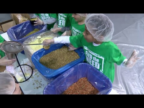Westover Christian Academy students prepare 10,000 meals for flood victims