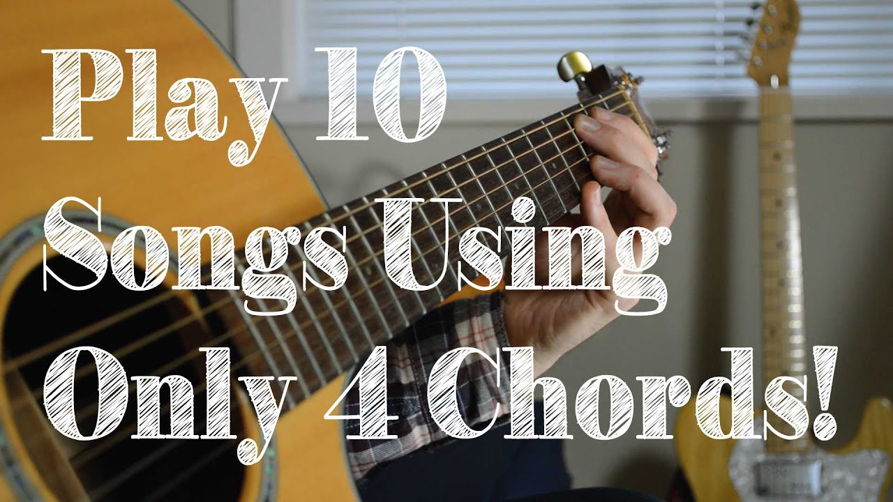 Learn 10 Popular Songs On Guitar Using 4 Easy Chord Shapes G Em C D
