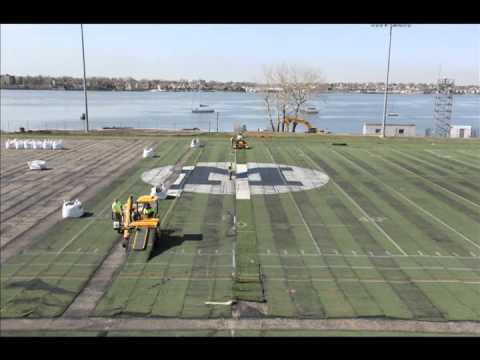 SUNY Maritime College Reinhart Field Turf Removal - 4/24-26