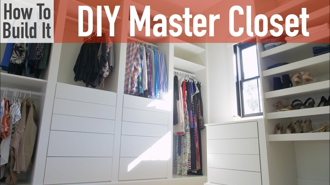 Diy Modular Master Closet Youtube
