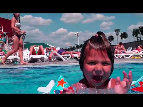 aqua-park & attractions for kids in Poland-Belarus-Lithuania 2017 in 2 min. Аквапарк, аттракционы