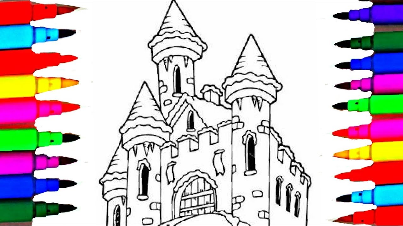 learn colors l winter kids castle coloring pages l kids coloring