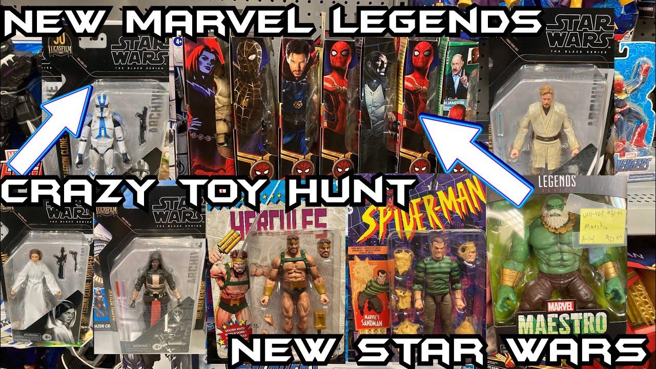 Download Toy Hunting NEW Marvel Legends Spider-Man No Way Home NEW Sandman Hercules Hulk Star Wars Black EP99