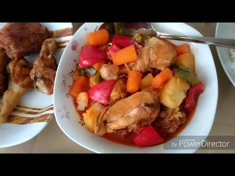 Chicken afritada & fried chicken