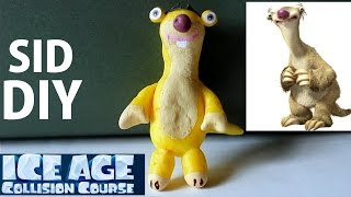 ice age collision course movie sid the sloth diy craft tutorial with polymer clay
