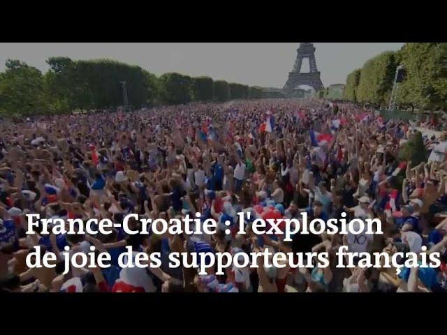 France-Croatie : à chaque but des Bleus, la joie grandissante des supporteurs français
