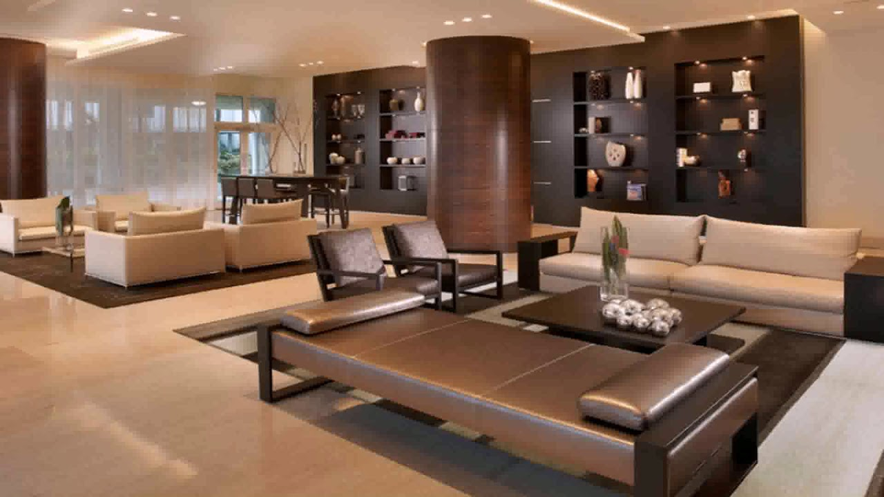 Living Room Decor With Brown Carpet