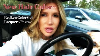 New Hair Color Covers Grey | Redken Gel Lacquers Volcanic