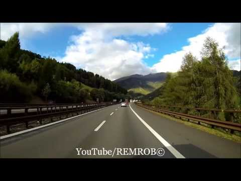 Driving Through Alps From Vipiteno / Sterzing Italy To Sindelsdorf Germany