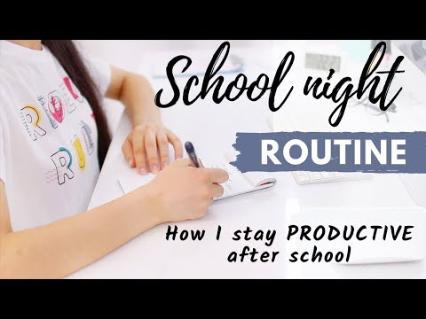 After School Night Routine | How To Be Productive After School 2019!