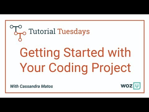 Woz U Learn To Code: Getting Started With Your Coding Project
