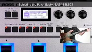 GT-1B Quick Start chapter8 : Selecting the Patch Easily - EASY SELECT -