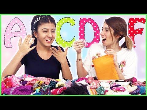 Alfabe Barbie Kombin Challenge Eğlenceli Çocuk Videosu Dila Kent