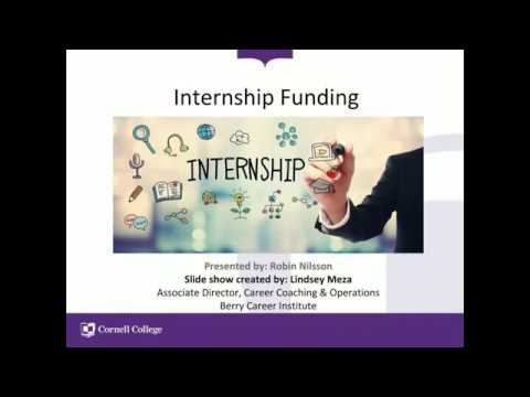 Internship Funding