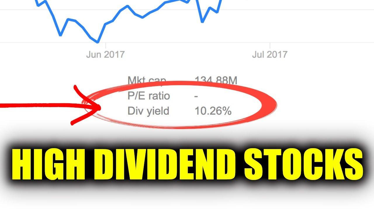 Should you buy high dividend stocks stock market for High div stocks