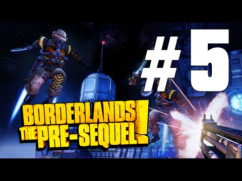 Borderlands: The Pre-Sequel Walkthrough Part 5 - LUNATICS!! With...JETPACKS!!