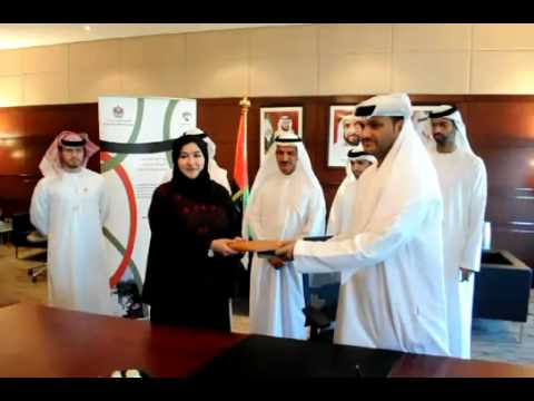 Ajman Department of Economic Development signs MOU with Insurance Authority of the UAE - YouTube.flv
