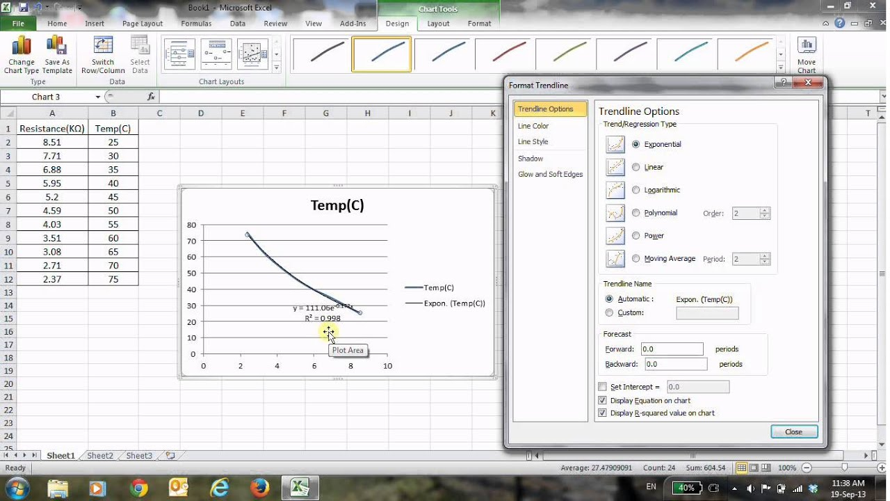 How To Show Slope Equation On Excel Graph
