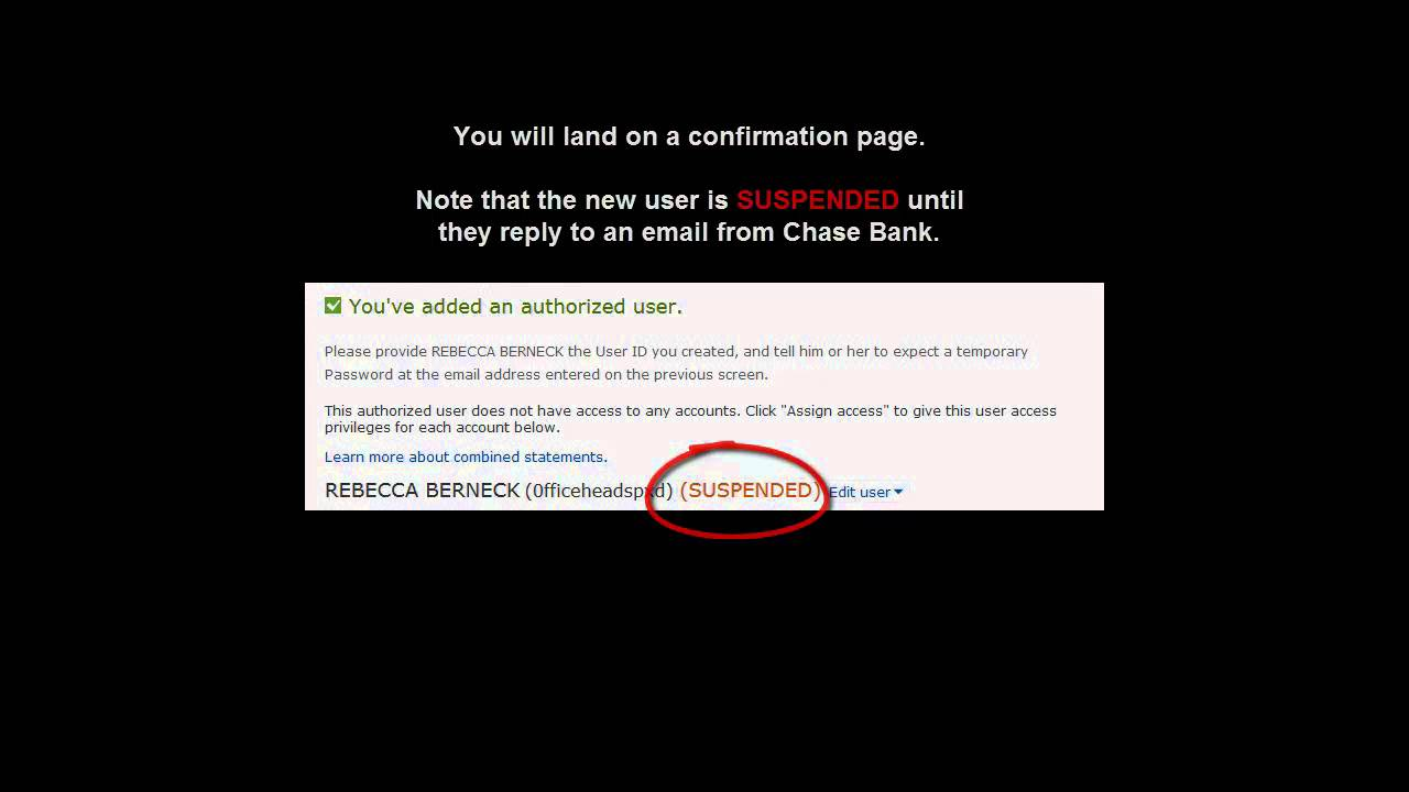Configuring A Chase Bank Authorized User
