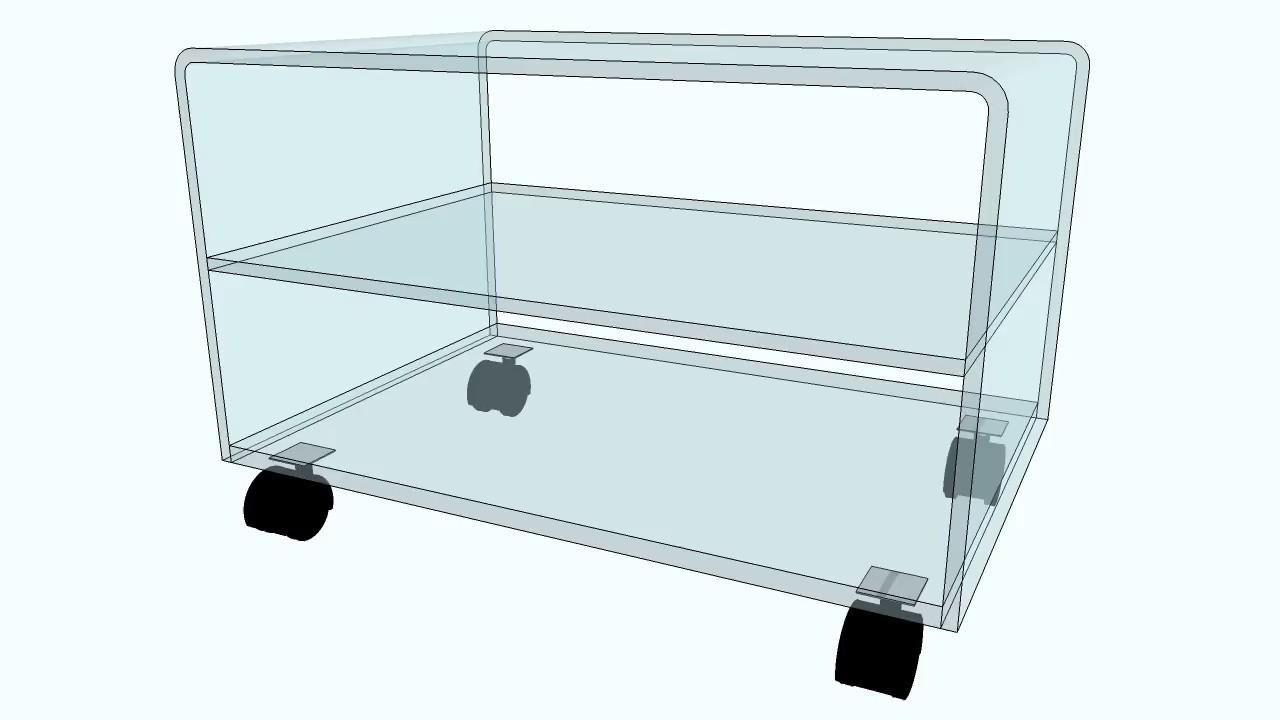 Table Tv Sur Roulettes Avec Tablette Youtube