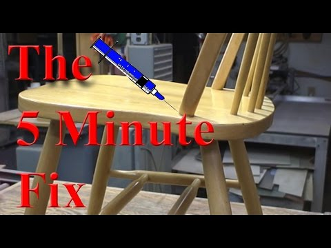 The 5 Minute Fix of a Broken Kitchen Chair