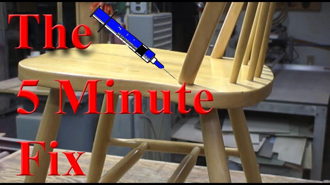 Fixing Wooden Chairs Wicker Nz The 5 Minute Fix Of A Broken Kitchen Chair Youtube
