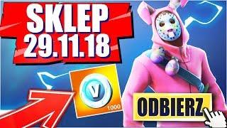 FESTIVE SKIN IN THE SHOP! + FREE 1000 V-BUCKS (SHOP FORTNITE 29.11.18) Easter Bunny