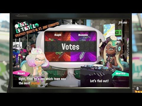 Splatoon 2 - Splatfest Raph VS Donnie Results! (TMNT Tournament Style Round 3/3)