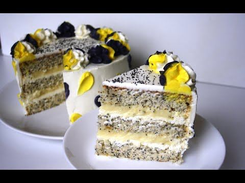 Торт Мак Лимон / Маковый торт с лимонным курдом / Poppy seed cake with lemon curd