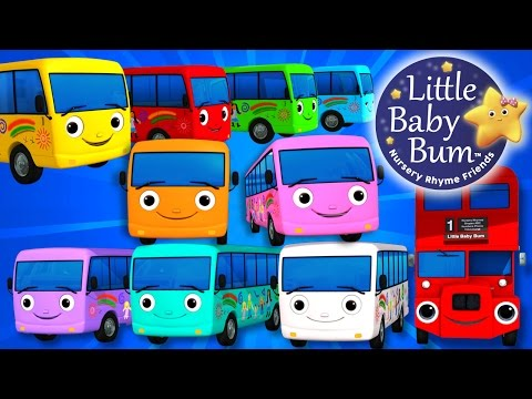 Thumbnail: Ten Little Buses | Part 3 | Nursery Rhymes | By LittleBabyBum!