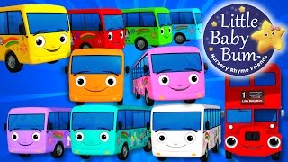 Ten Little Buses | Part 3 | Nursery Rhymes | By LittleBabyBum! | ABCs and 123s