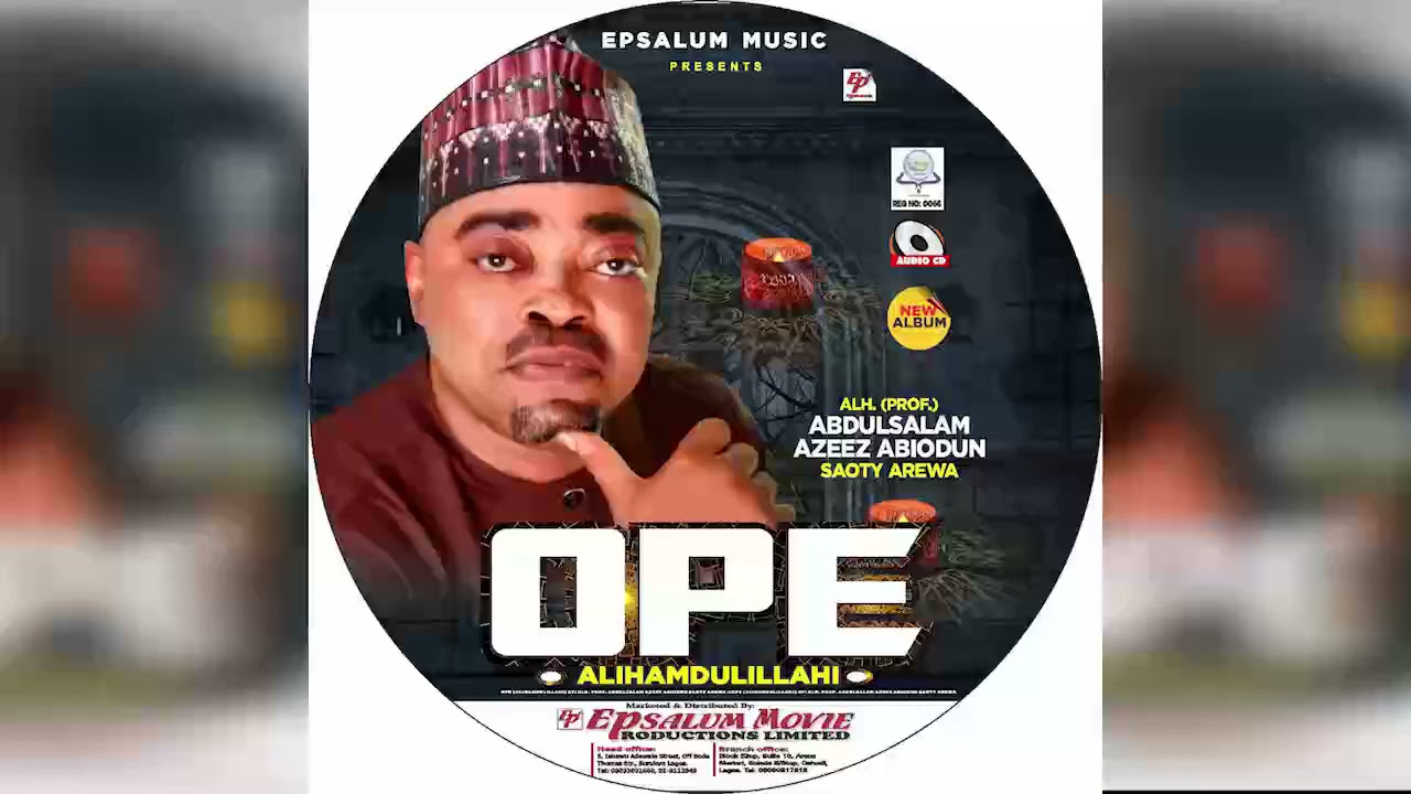 Download OPE (Track 1) Latest 2021 Islamic Music Featuring SAOTY AREWA