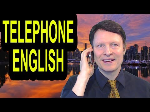 Learn telephone English  speak with confidence  Learn English live with Steve Ford