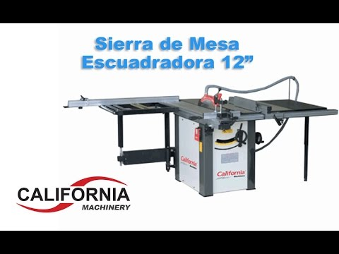 Sierra de mesa escuadradora 12 3 hp trif sica for Sierras de mesa