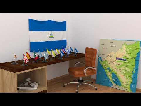 Himno y banderas de Nicaragua | Nicaragua flags and anthem