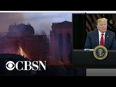 Trump calls Notre Dame fire a