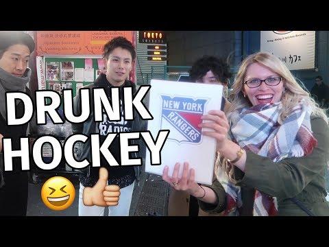 DRUNK HOCKEY: RATING NHL LOGOS | What Japanese Think of NHL Logos