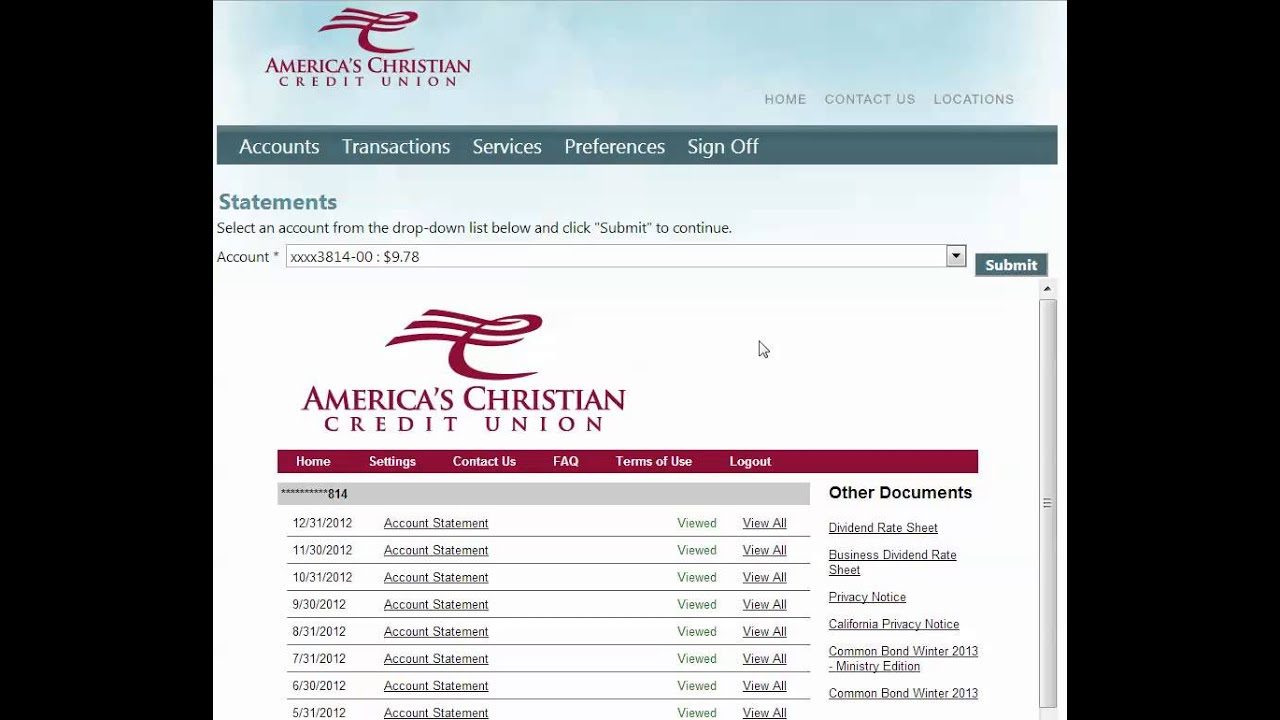 how to view your bank statements online and print