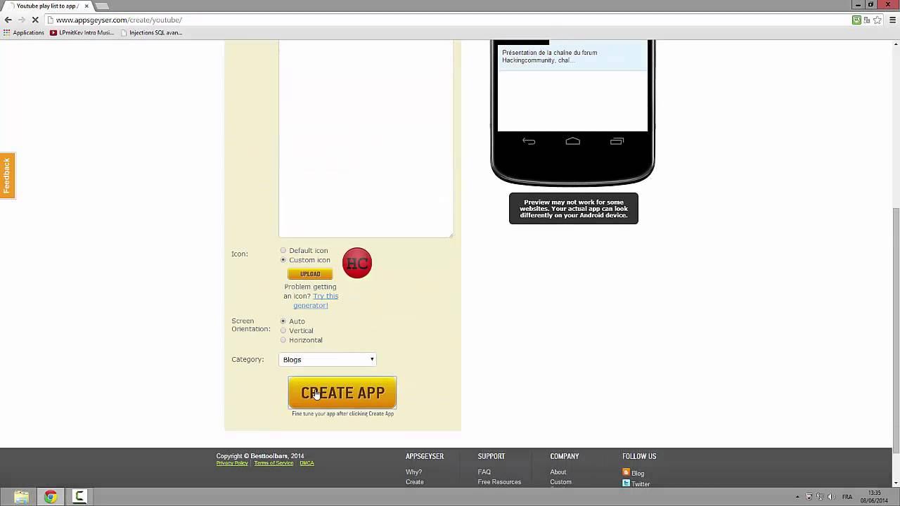 Comment créer une Application Android Gratuitement, Rapidement, et  Facilement