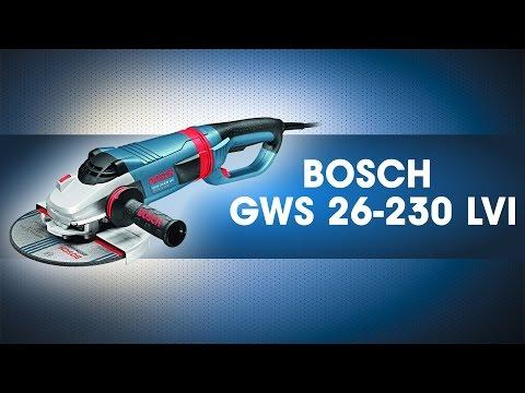 Видео обзор: Углошлифмашина 230мм BOSCH GWS 24-230 LVI