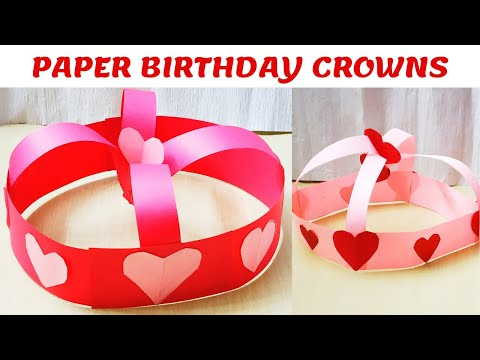 DIY PRINCESS CROWN CRAFT IDEAS || BIRTHDAY CROWNS FOR GIRLS || PAPER CROWNS