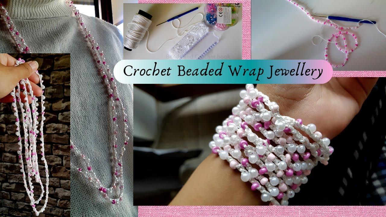 How to Crochet Bead | DIY Crochet Beaded Necklace and Bracelet | Handmade Jewellery