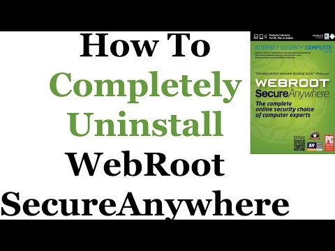 How To Uninstall Webroot Secure Anywhere From Windows 7