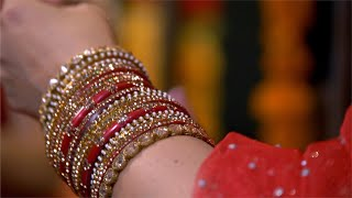 Shot of Indian women wearing beautiful bangles
