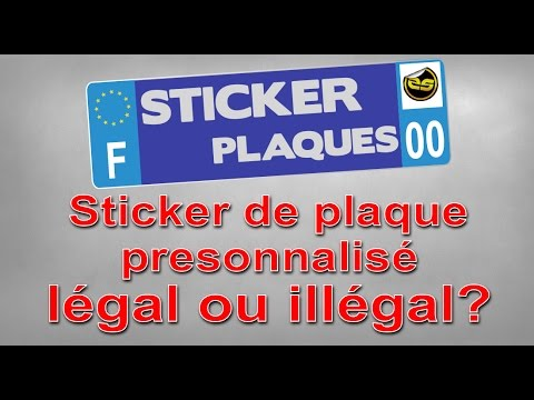 stickers plaque immatriculation l gal ou ill gal youtube. Black Bedroom Furniture Sets. Home Design Ideas