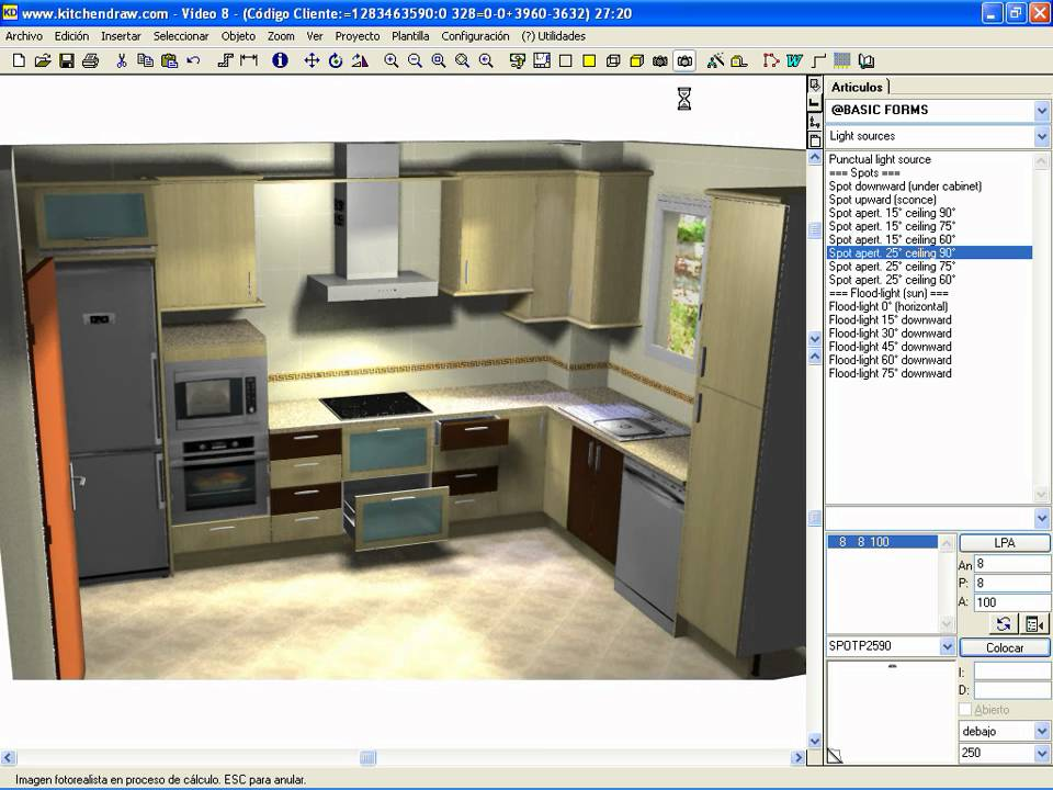 Luces kitchendraw youtube for Software diseno cocinas 3d gratis